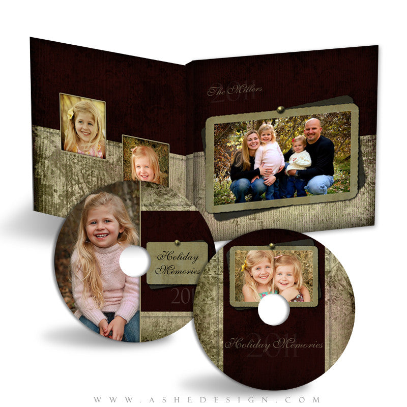 CD/DVD Label & Case Design Set - Christmas Blessings