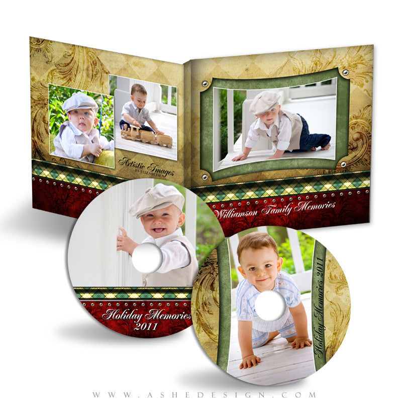 CD/DVD Label & Case Design Set - Christmas Couture