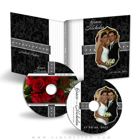 CD/DVD Label & Case Design Set - Classic Black & White 2011