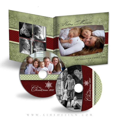 CD/DVD Label & Case Design Set - Dear Santa