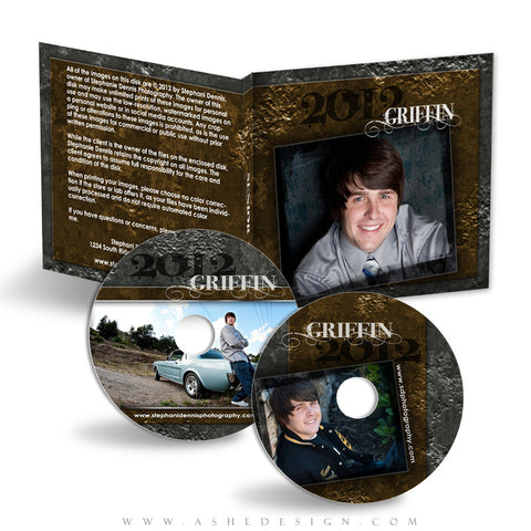 CD/DVD Label & Case Design Set - Inked