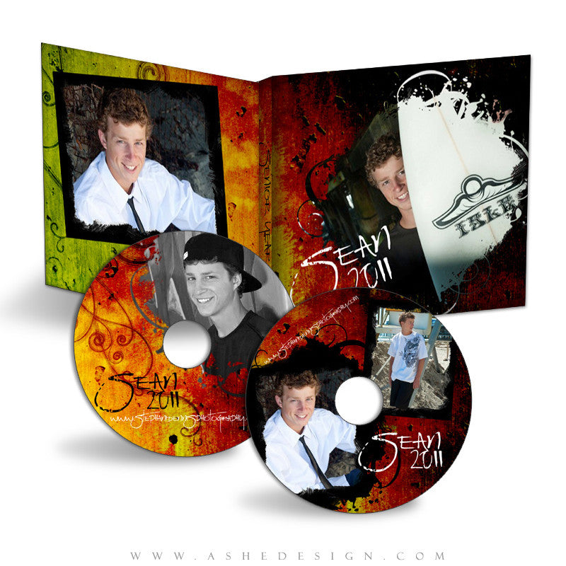 CD/DVD Label & Case Design Set - Lava