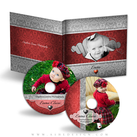 CD/DVD Label & Case Design Set - Little Sweeties