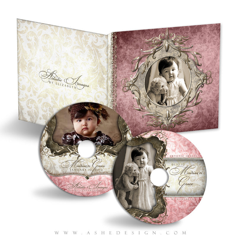 CD/DVD Label & Case Design Set - Madison Grace