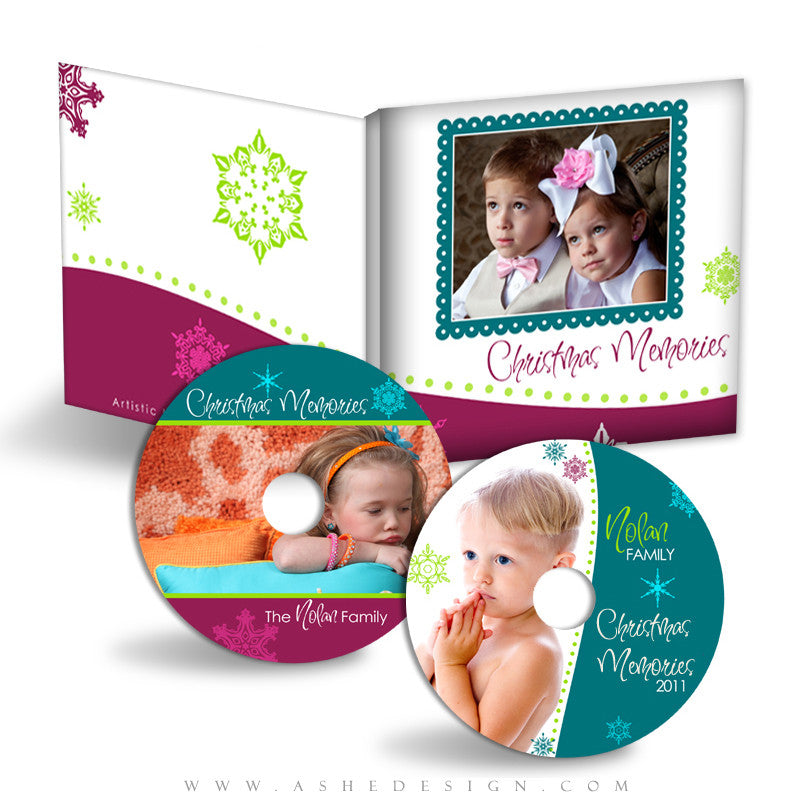 CD/DVD Label & Case Design Set - Santa Baby