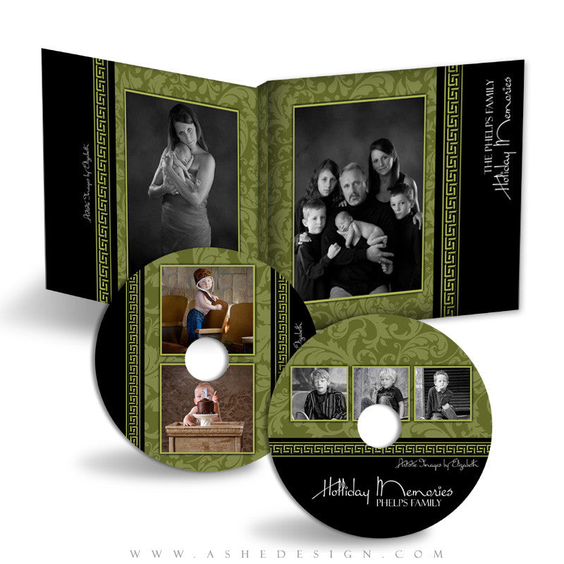 CD/DVD Label & Case Design Set - Sophisticated