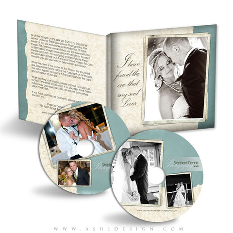 CD/DVD Label & Case Design Set - Soul Mate