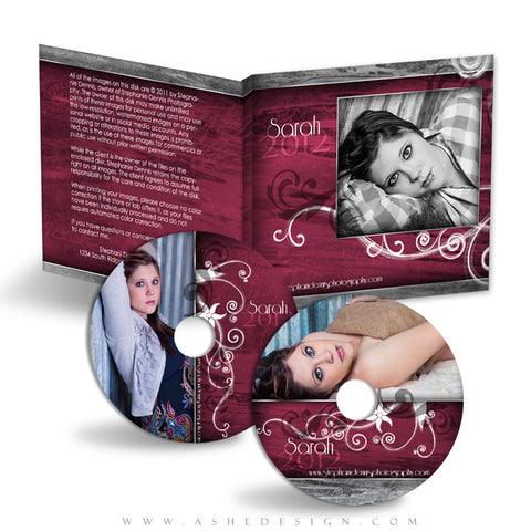 CD/DVD Label & Case Design Set - Steel Magnolia