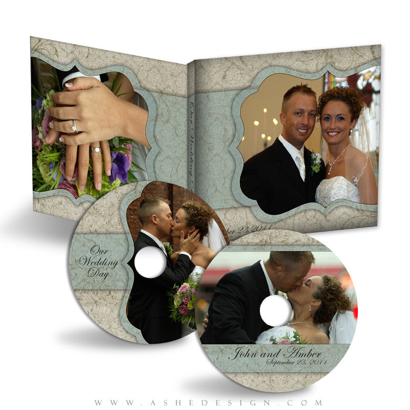 CD/DVD Label & Case Design Set - Sweet Romance