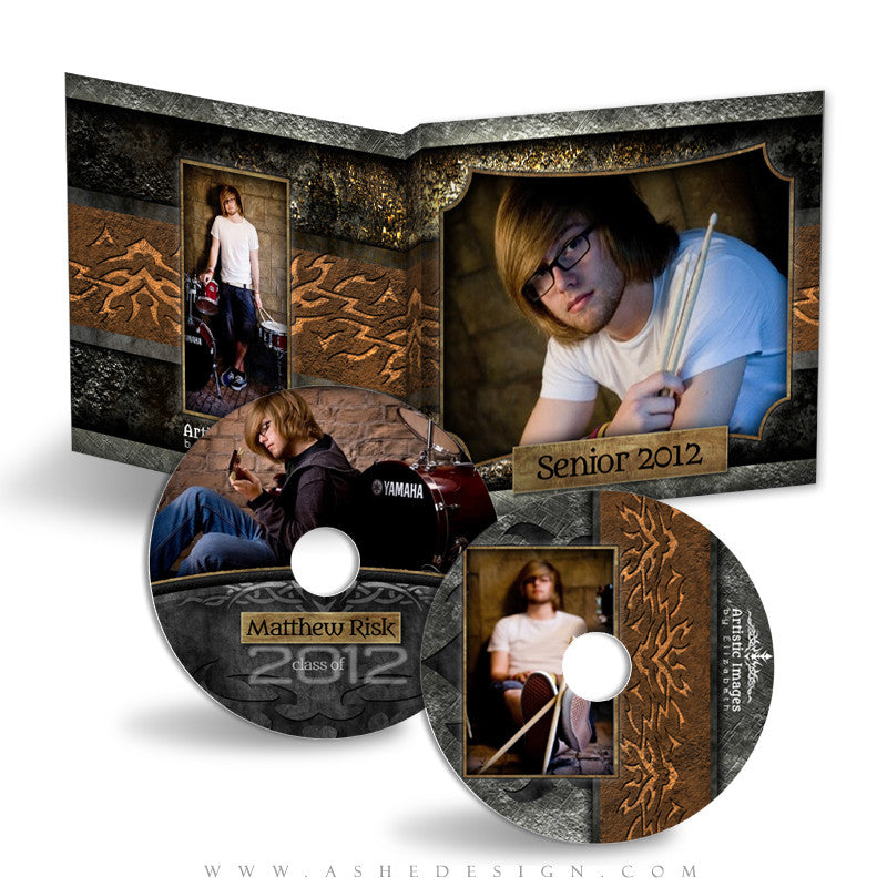 CD/DVD Label & Case Design Set - Tattooed