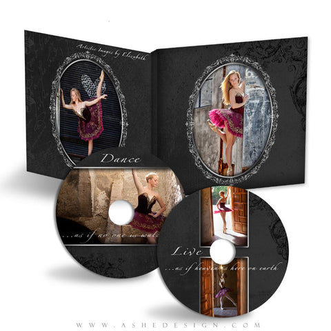 CD/DVD Label & Case Design Set - Timeless
