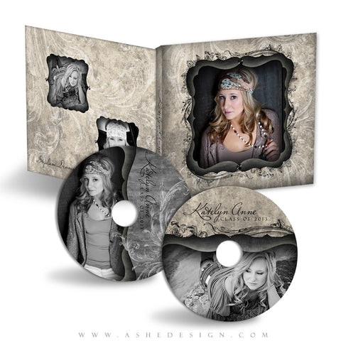 CD/DVD Label & Case Design Set - Timeless Beauty