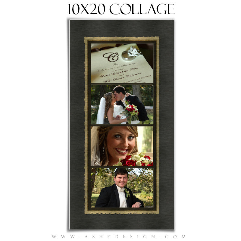 Wedding Collage (10x20) - Brushed Lace