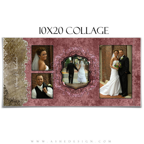 Collage Design (10x20) - Engraved Elegance