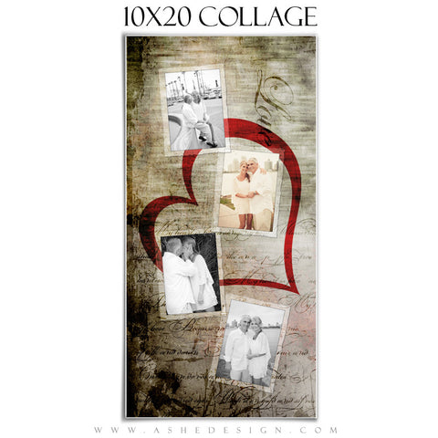Collage Design (10x20) - Love Letters