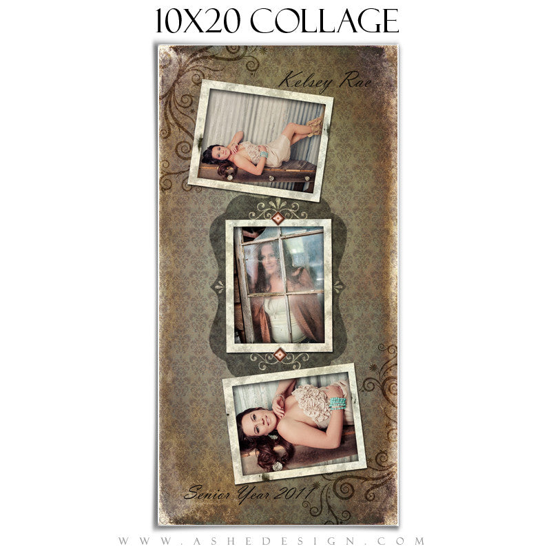 Collage Design (10x20) - Shabby Chic