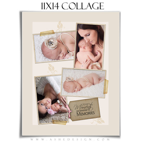 Collage Template (11x14) - A Stitch in Time