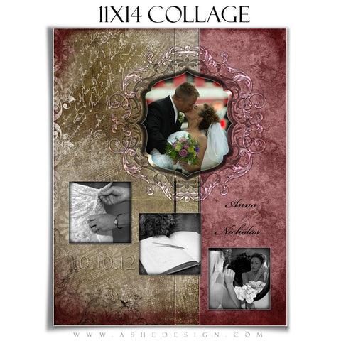Collage Design (11x14) - Engraved Elegance