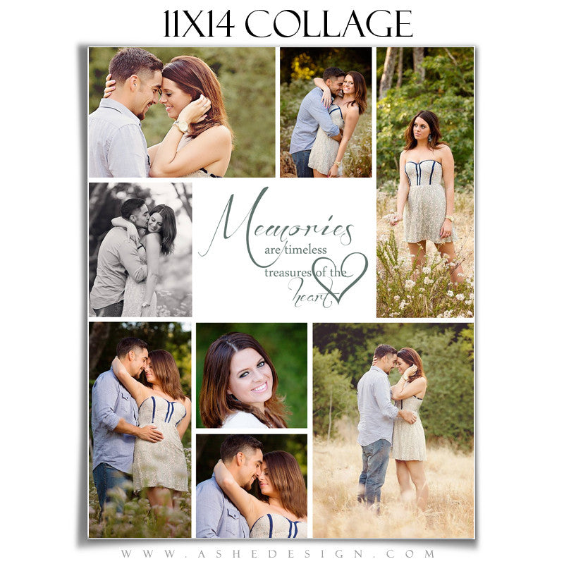 Ashe Design | Tomorrow's Memories 11x14 Photography Template