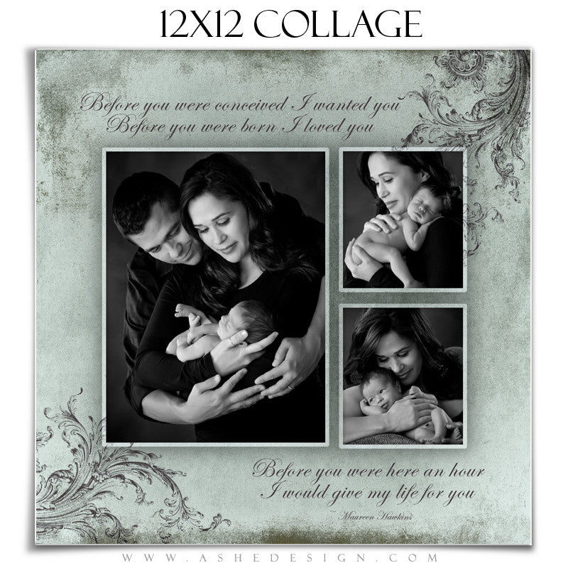 Collage Design (12x12) - A Mother's Love