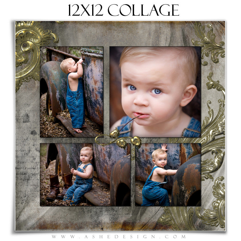 Collage Design (12x12) - Antique Bling