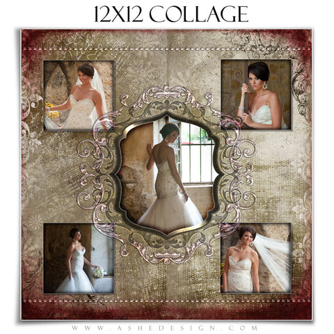 Collage Design (12x12) - Engraved Elegance