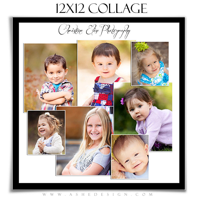Collage Template (12x12) - Split Panels