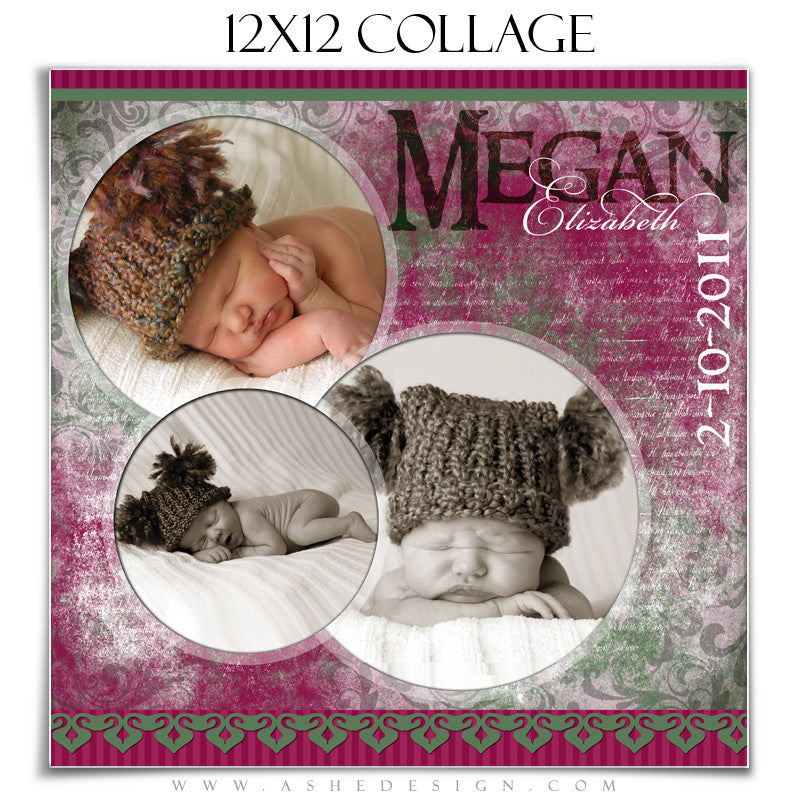 Collage Design (12x12) - Sugar Plum