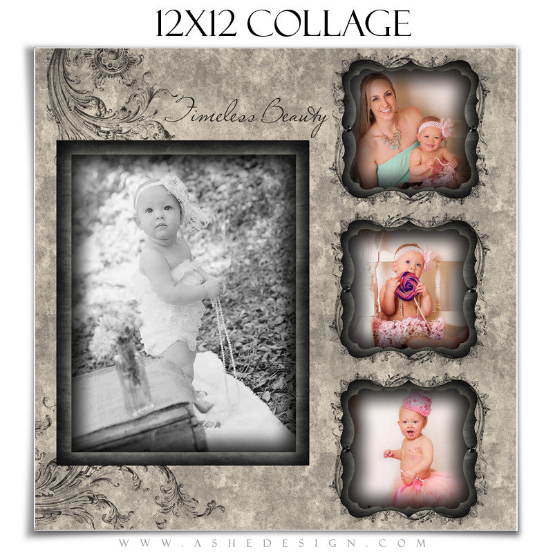 Collage Template (12x12) - Timeless Beauty