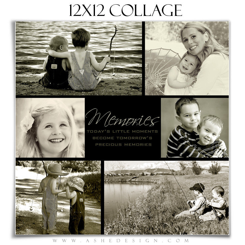 Ashe Design | Tomorrow's Memories 12x12 Photography Template