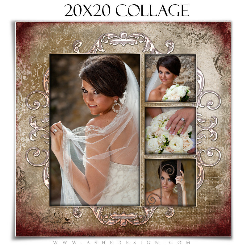 Collage Design (20x20) - Engraved Elegance