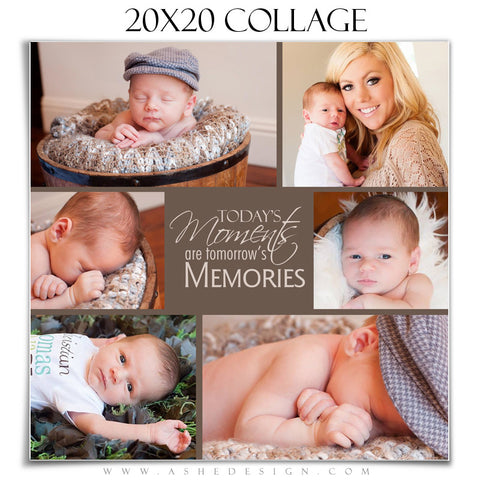 Ashe Design | Tomorrow's Memories 20x20 Photography Template