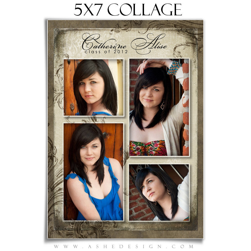 Senior Girl Collage (5x7) - Catherine Alise