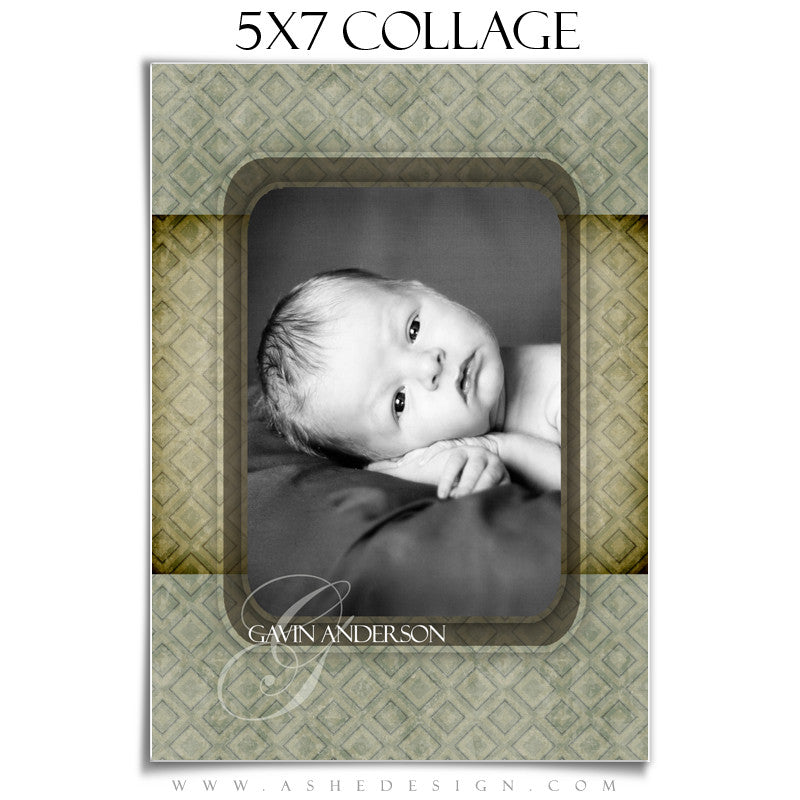 Baby Boy Collage (5x7) - Gavin Anderson