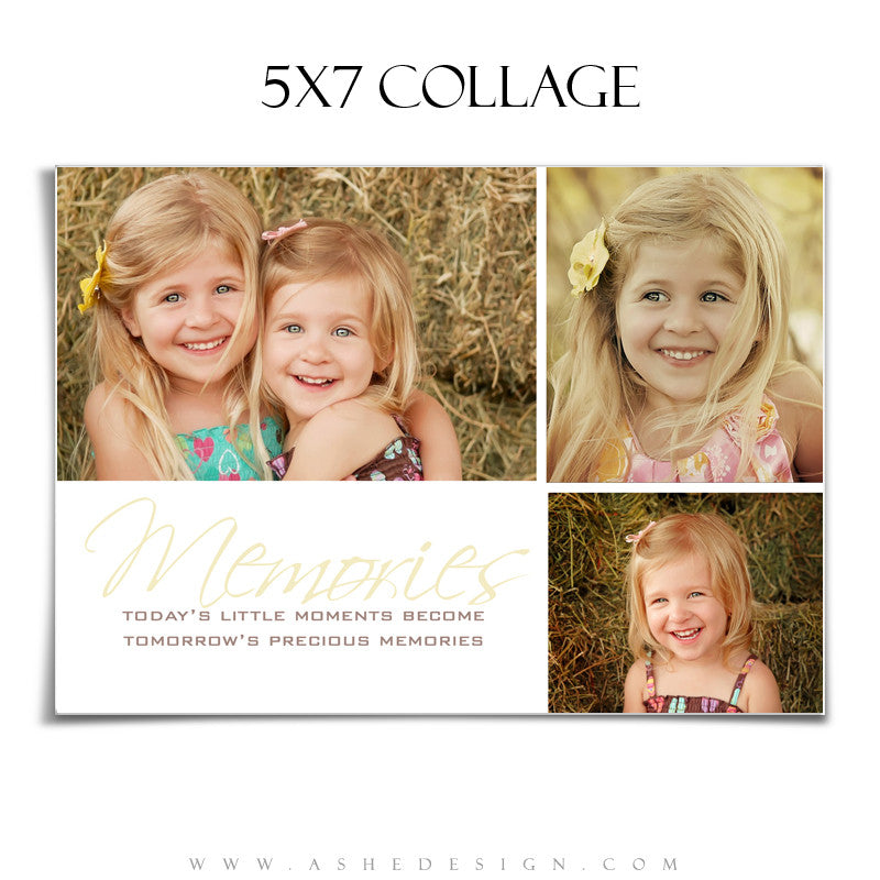 Ashe Design | Photography Template 5x7 Tomorrow's Memories