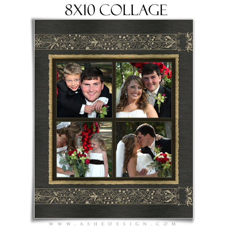 Wedding Collage (8x10) - Brushed Lace