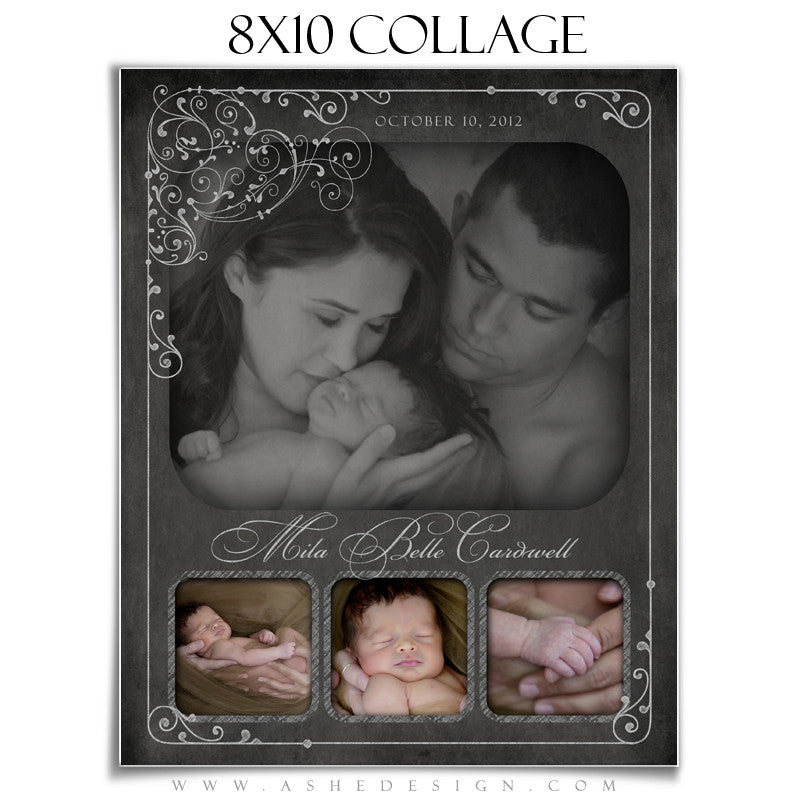Collage Template (8x10) - Chalkboard
