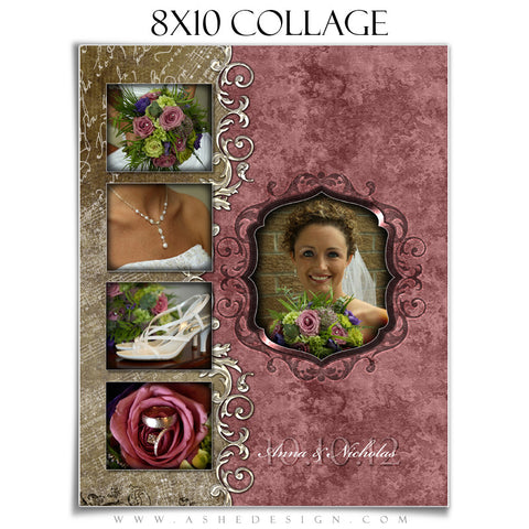 8x10 Wedding Collages Ashedesign