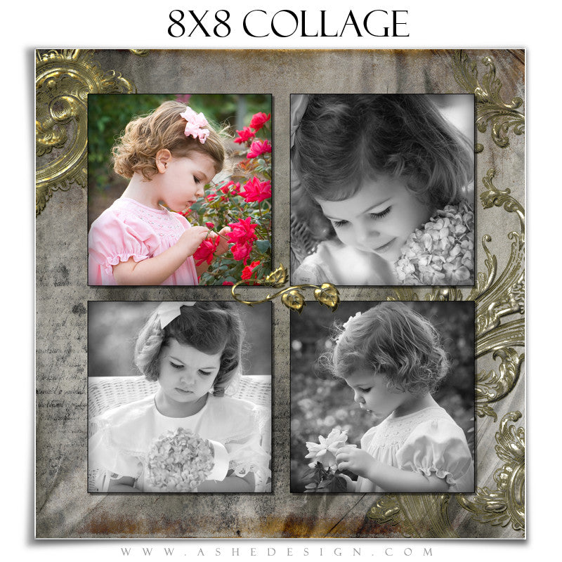 Collage Design (8x8) - Antique Bling