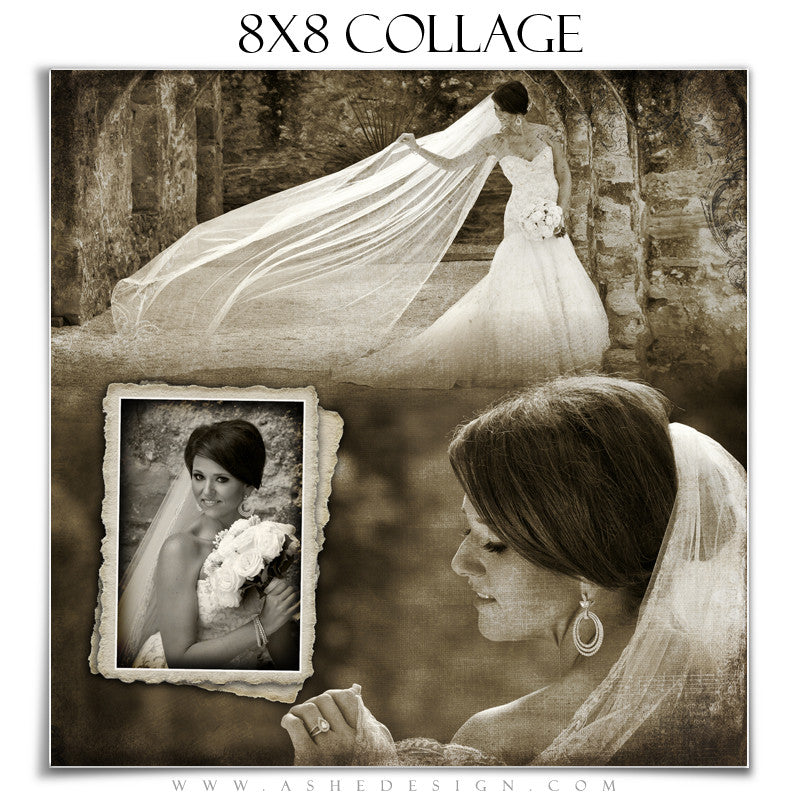 Collage Design (8x8) - Antique Fairy Tale