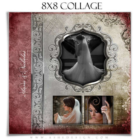Collage Design (8x8) - Engraved Elegance