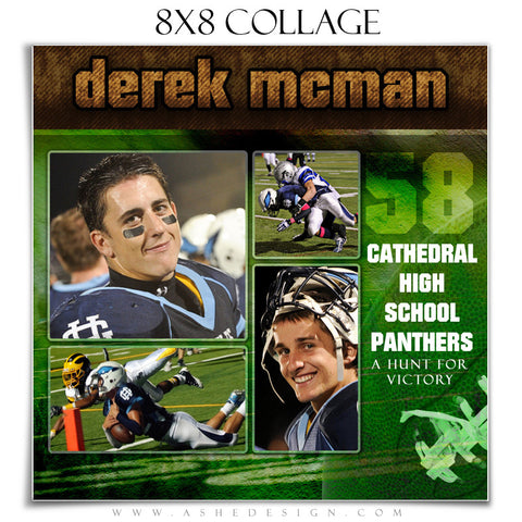 Sports Collage (8x8) - Football