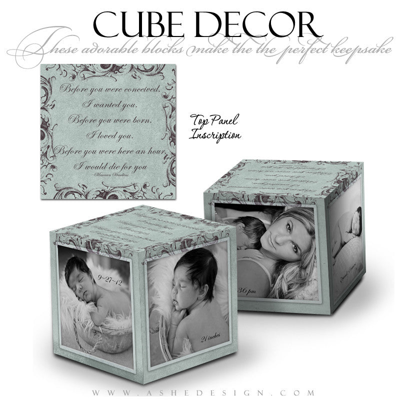 Ashe Design | Cube Decor Template | A Mother's Love