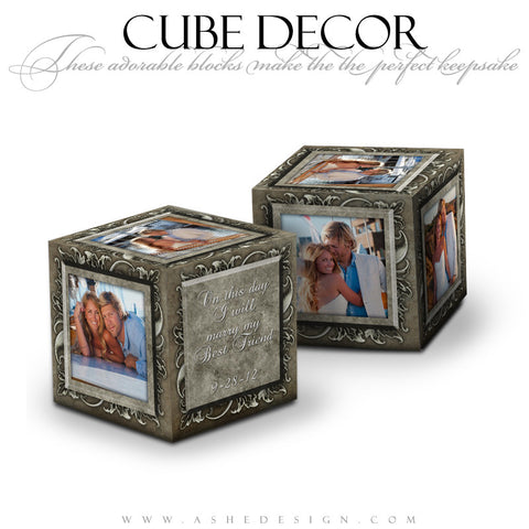 Cube Decor Design - Whitewashed