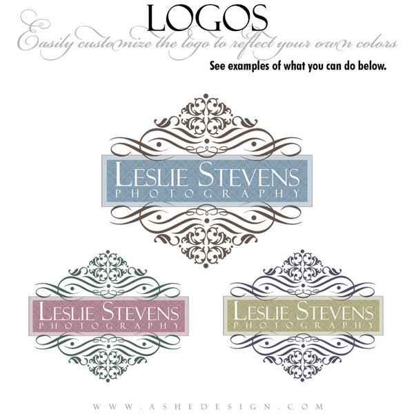 Customizable Logo - Floral Damask