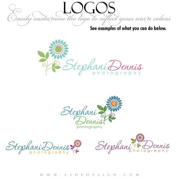 Customizable Logo - Pretty Petals