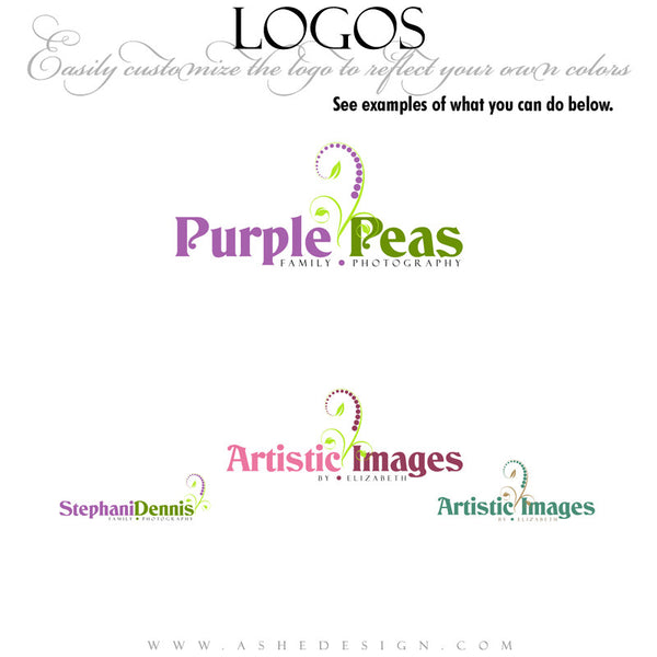 Customizable Logo - Purple Peas