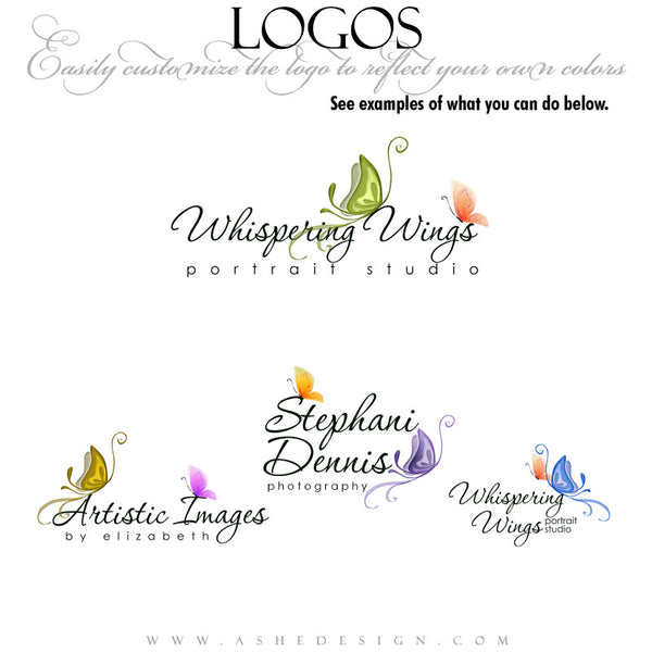Customizable Logo | Whispering Wings example1