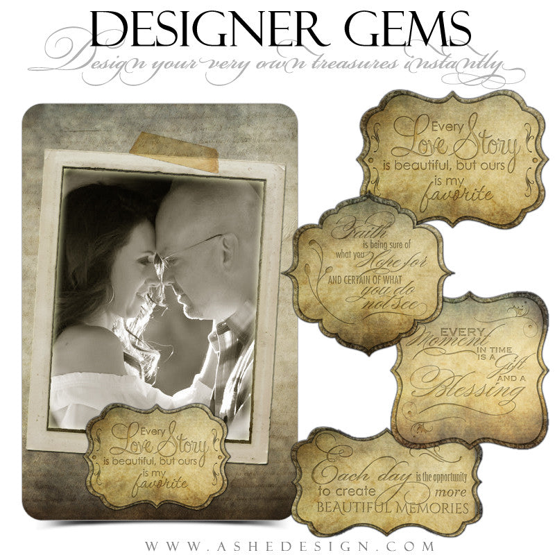 Designer Gems - Cardboard Ornate Shapes