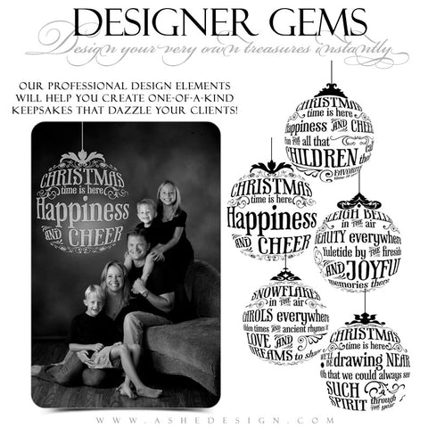 Designer Gems - Christmas Carol Ornaments Stamps